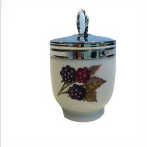 Vintage Royal Worcester Egg Coddler Porcelain